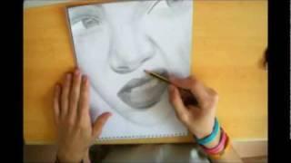 Rihanna Speed Drawing Portrait