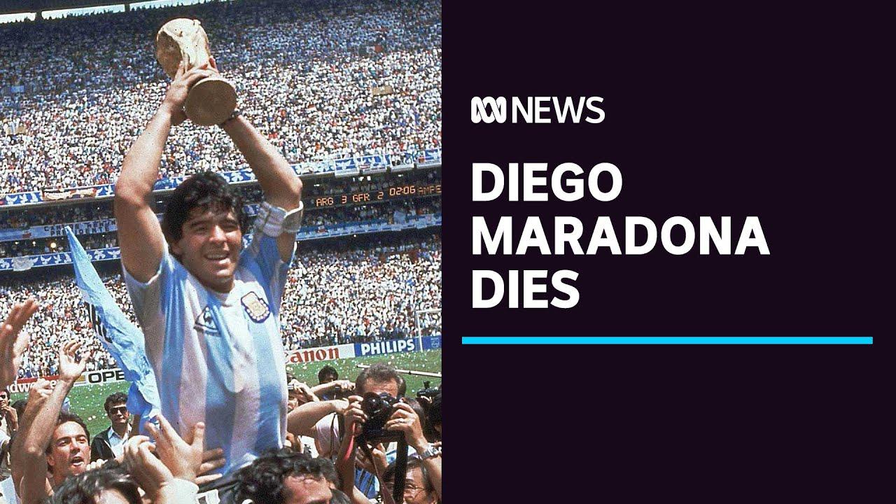 Football legend Diego Maradona dies of heart attack, aged 60 | ABC News