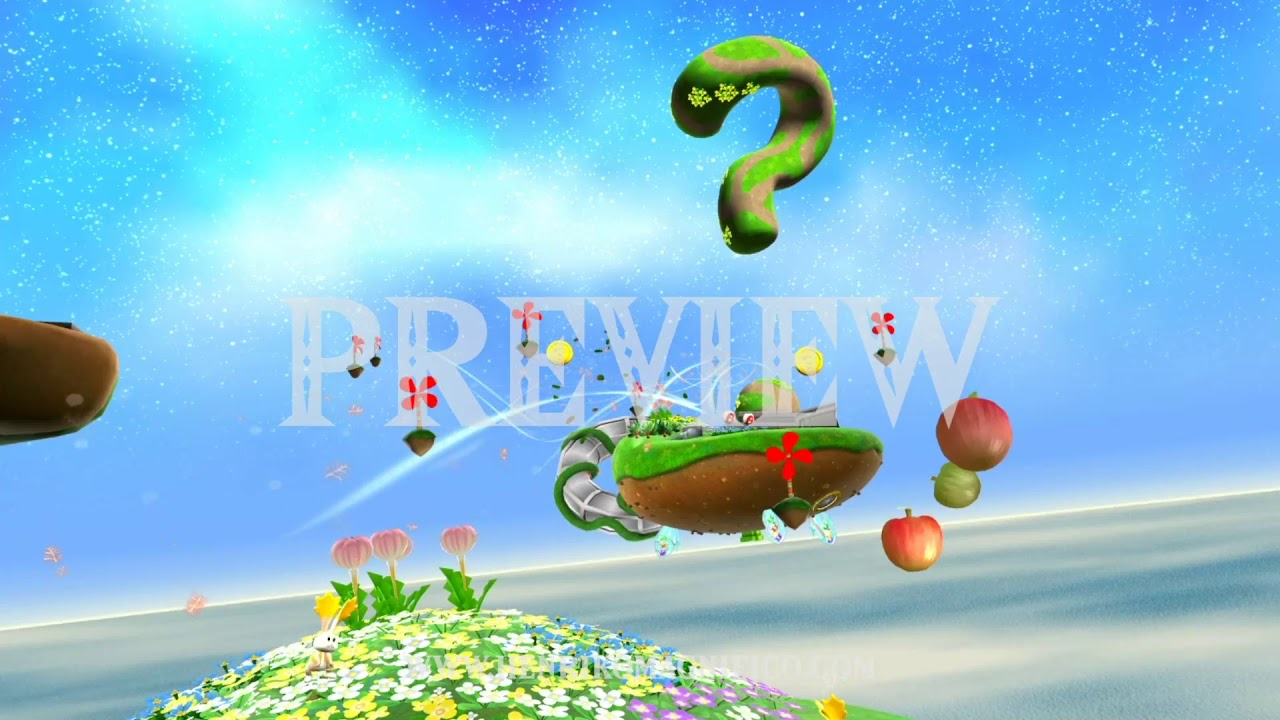 Super Mario Galaxy (Gusty Garden Galaxy) - 1080p 60FPS Looping Background