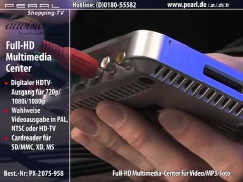 auvisio HD-Multimedia-Center für Video/MP3/Foto