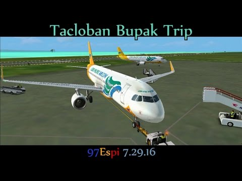 FSX VATSIM Round Trip Flight + ATC Bupak Trip Manila - Tacloban 07.29.16 Cebu Pacific A320