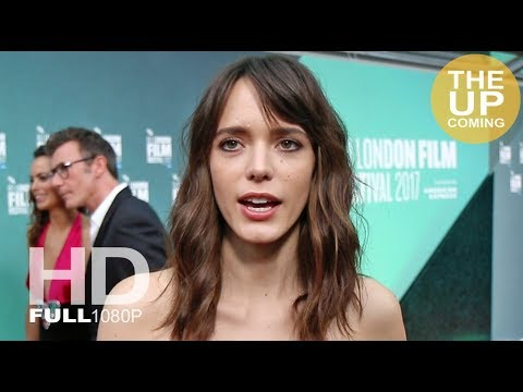 Stacy Martin  at Redoubtable premiere for London Film Festival