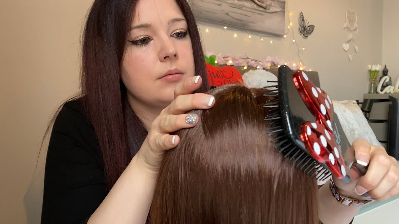 🤎 ASMR ~ Heavenly Hair Brushing & Stroking ~ Very Delicate & Gentle Hand Movements ~ Tingles 🤎