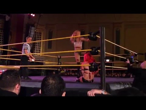 WWE NXT Live Event Chicago 1/16/16  Carmella and Peyton Royce vs Eva Marie and Nia Jax