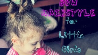 Cute Bow Hairstyle for Little Girls ❤ Minnie Mouse inspired hair tutorial ❤