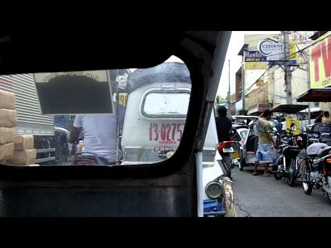 Ride in a tricycle in Cabanatuan City, Philippines