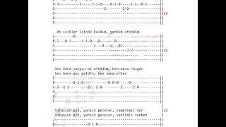 Gitar Dersleri-Koray Avcı Hoşgeldin Gitar TAB SOLO COVER