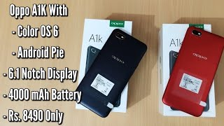Oppo A1K Unboxing And Camera Overview