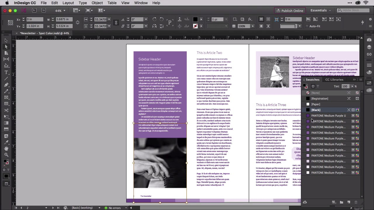 InDesign: Colorizing Black and White Photos in InDesign