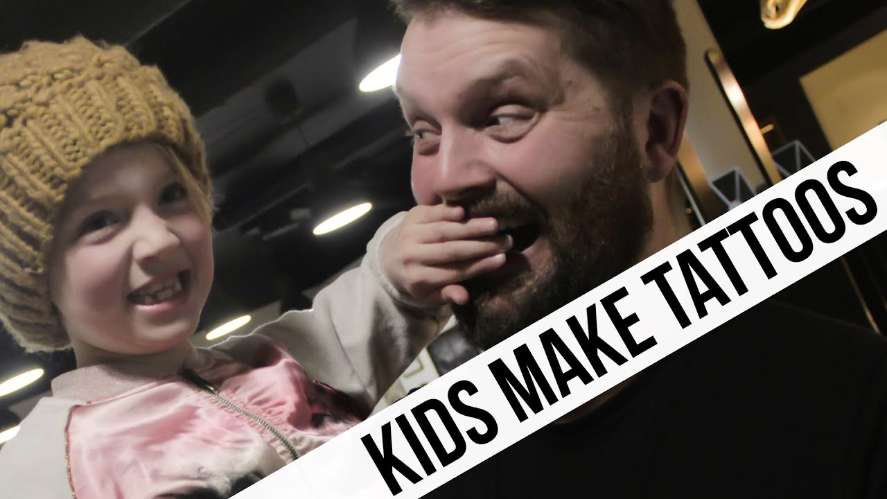 Kids make real tattoos for parents gunnar v youtube for Kids with real tattoos