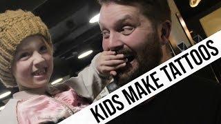 KIDS MAKE REAL TATTOOS FOR PARENTS | GUNNAR V
