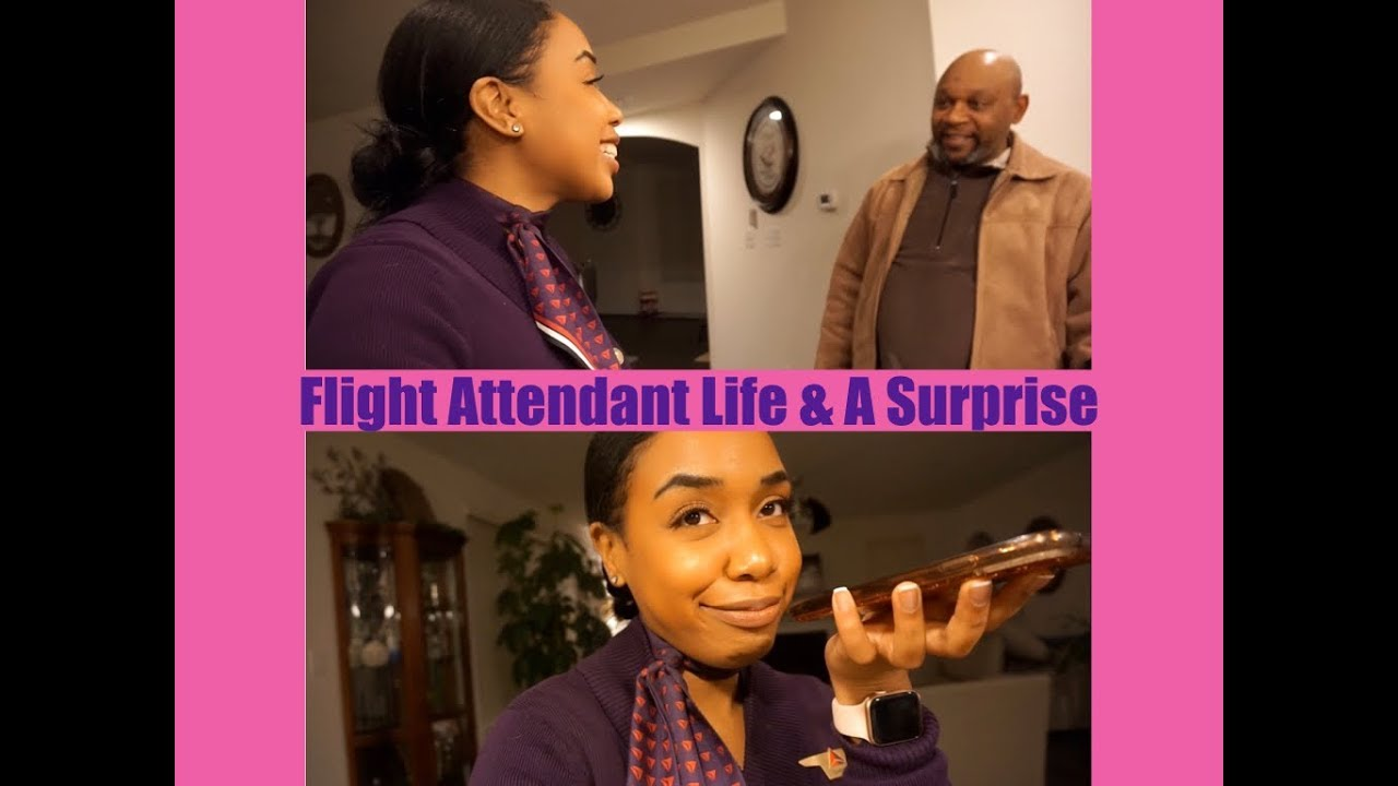 Flight Attendant Life Vlog 2 | Commuting | Surprising My Family