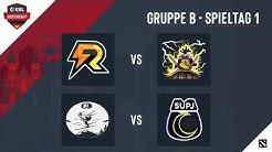Recast Gaming vs hehe united & Abfahrt vs 5UpJungz | Spieltag 1 - Gruppe B | ESL Meisterschaft
