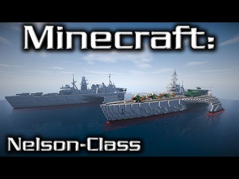 Minecraft: Destroyer & Carrier Tutorial (Nelson-Class My Design)