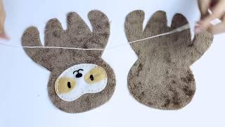 [해피플레이]에비니어 DIY 인형만들기 나무늘보 설명서