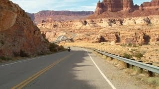 Utah State Route 95 : Hite towards Hanksville ( Part 1 ) HD