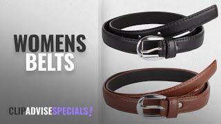 Top 10 Womens Belts 2018 Krystle Girl 39 s Combo Set Of 2 PU leather belts Black amp Brown