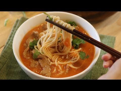 Tomato Soup With Beef And Noodles (番茄汤牛肉面)