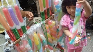 beli balon air di paman penjual mainan | di lanjutkan belajar menghitung & mengenal warna