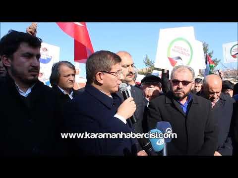 Karaman Haber - Ahmet Davutoğlu Kudüs Açıklaması