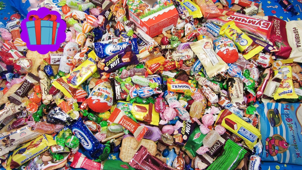 A Lot Of Candy and Surprise Eggs 2017! Many Sweets ...