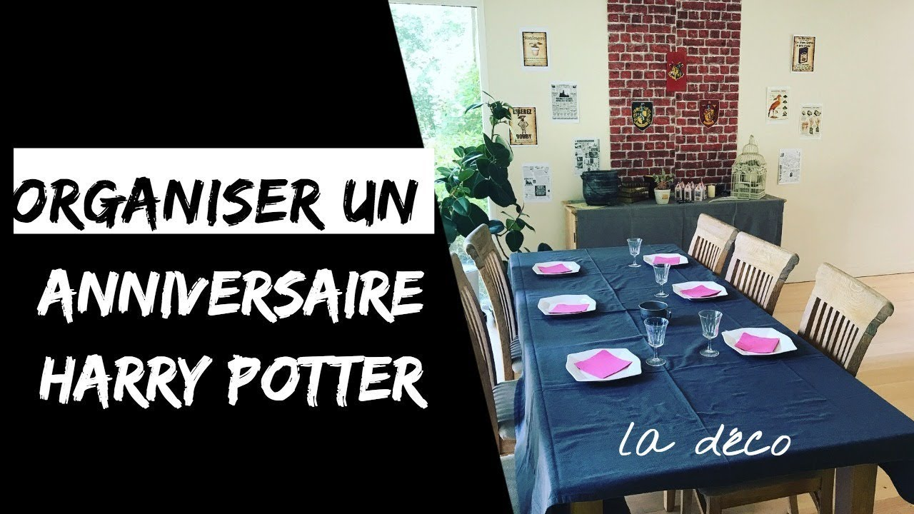 Anniversaire Harry Potter 13 Idees De Decoration Youtube