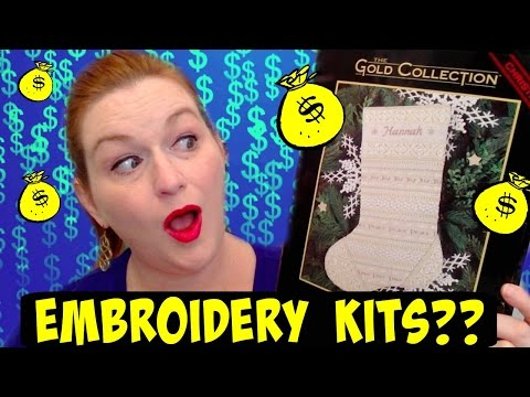 Big Money in Embroidery Kits Haul Tutorial, Listing & Shipping Tips How to Make Money Selling Online