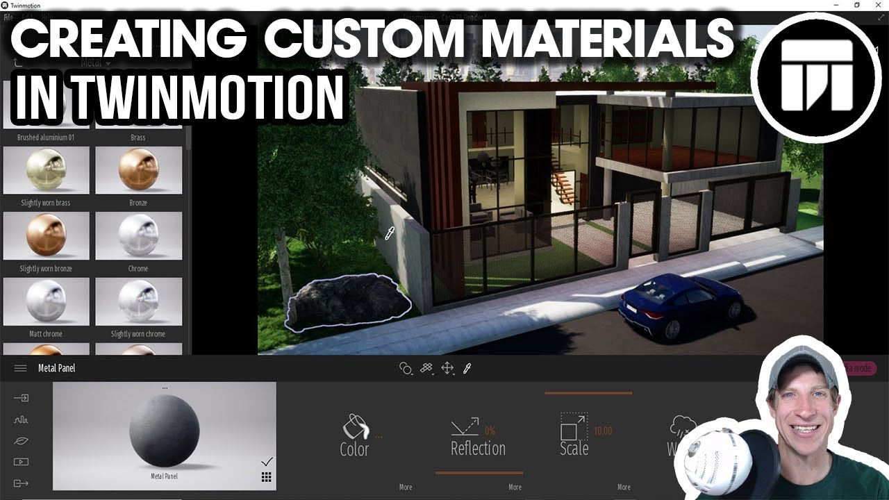 Getting Started RENDERING IN TWINMOTION (EP 6) - Creating CUSTOM MATERIALS  AND TEXTURES