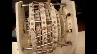 Permanent Magnet Model Engine Prototype,2500 rpm