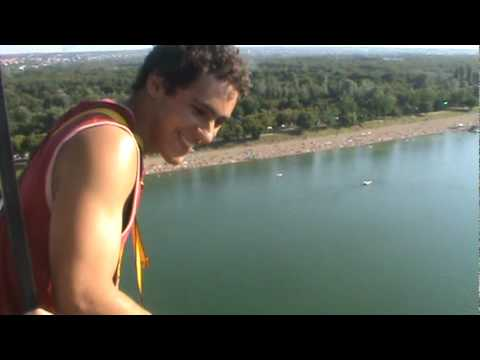 Bungee Jumping at Ada Ciganlija in Belgrade, Serbia