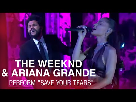 The Weeknd & Ariana Grande - Save Your Tears (Remix) (Live on The 2021 iHeartRadio Music Awards)