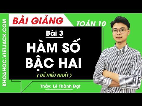 Tổng hợp Toán 10 Bài 3: Hàm số bậc hai | Banmaynuocnong