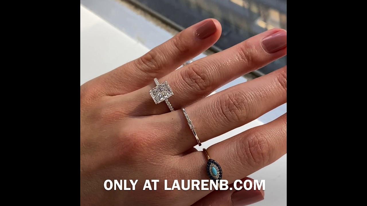2.5 carat Radiant Cut Diamond Engagement Ring
