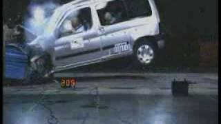 Краш-тест и видео краш-тест Citroen Berlingo (Ситроен Берлинго)