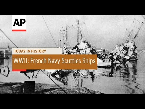 WWII: French Navy Scuttles Ships - 1942  | Today in History | 27 Nov 16