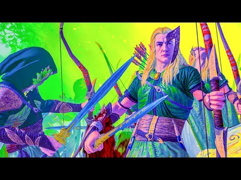 Realm of The Wood Elves DLC - Total War WARHAMMER Cinematic Battle Machinima |