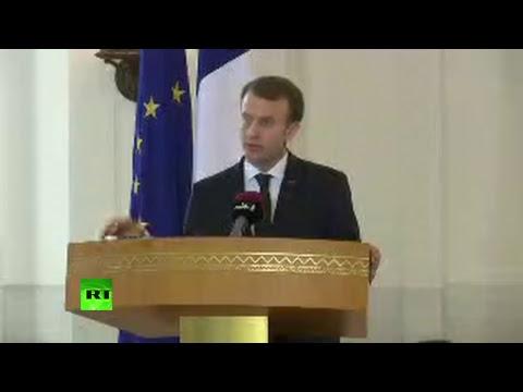 Conférence de presse d'Emmanuel Macron et de l'émir du Qatar Tamim ben Hamad al-Thani