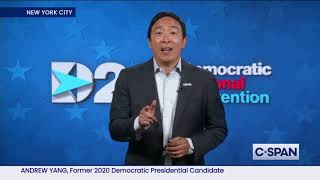 Andrew Yang remarks at 2020 Democratic National Convention