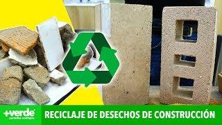 Crean materiales para la construcción a partir de los mismos residuos de este sector