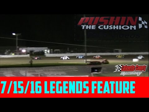 Lafayette County Speedway 7/15/16 Legends Feature
