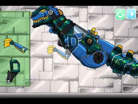 Мультик игра Дино робот солдат: Тираннозавр (Dino robot Tyrannosaurus Solider)