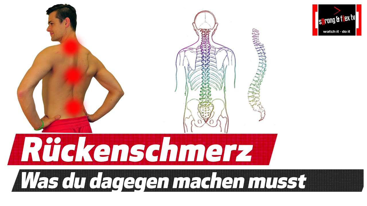 Was tun gegen Rückenschmerzen !? - YouTube