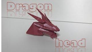 origami dragon head 용머리 竜頭