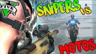 SNIPERS FURIOSOS VS MOTOS PARKOUR EPICO !! MINIJUEGO GTA 5 ONLINE Makiman