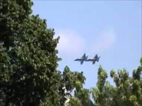 ★ The Blue Angels Flying Over My House ★ BARKSDALE AIR FORCE BASE ★ 5/3/15 ★