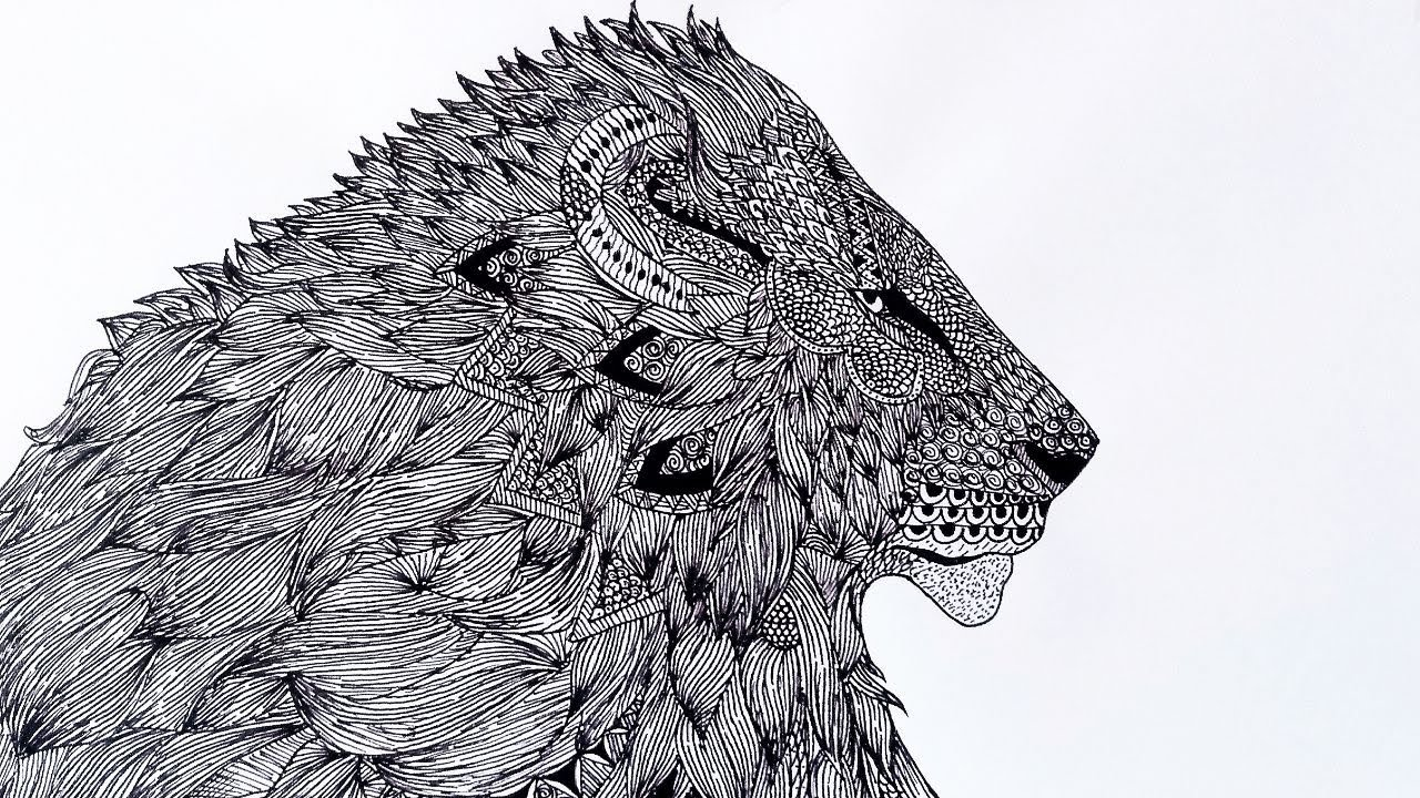 Mandala Art Lion Mandala Art Animal Mandala Drawing Mandala Art Easy Designs Zentangle Animal Art Youtube
