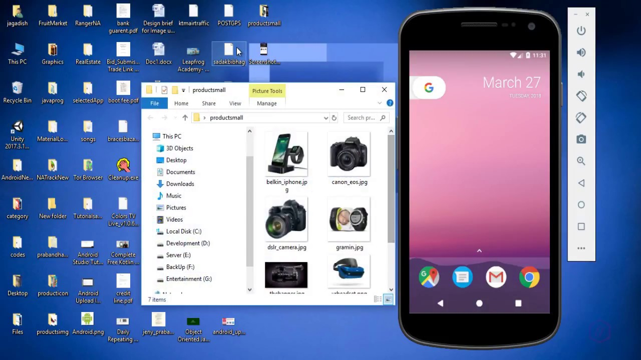 Android studio shopping app layout with cardview and horizontal scrollview