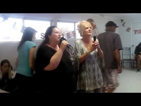 KARAOKE AT OUR 1ST ANNUAL CHILI COOK-OFF - clip