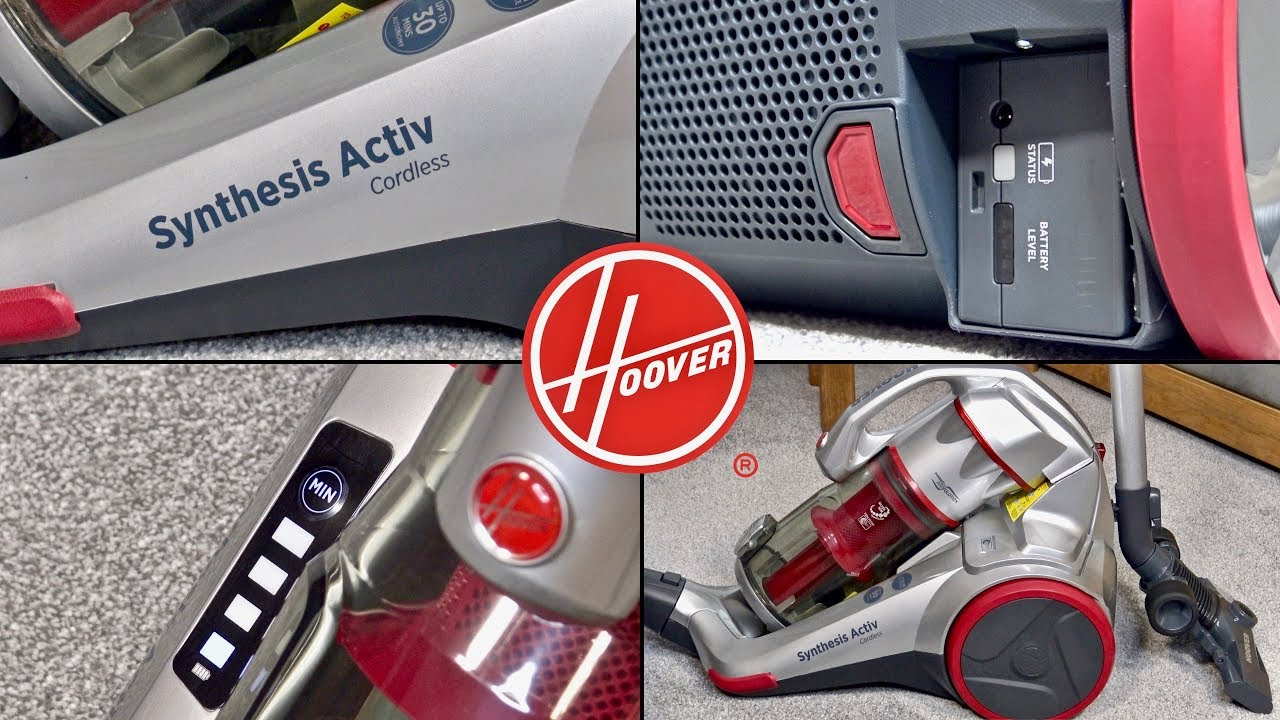 Hoover Synthesis Activ Cordless Bagless Cylinder Vacuum Cleaner Unboxing