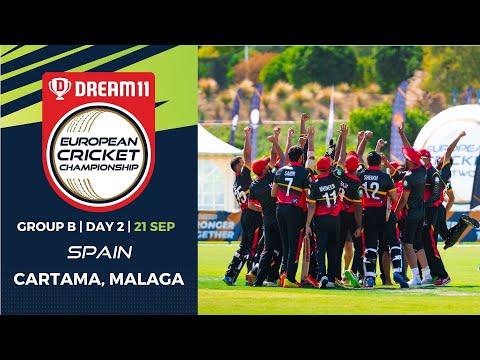 🔴 Dream11 European Cricket Championship | Group B  Day 2 | Cartama Oval Spain | T10 Live Cricket